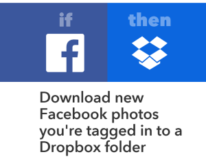 IFTTT Recipe for Facebook and Dropbox