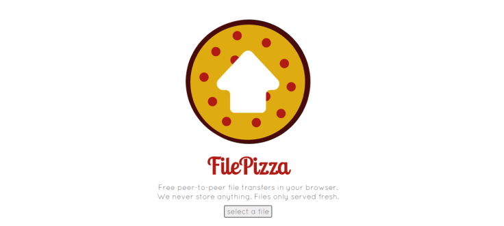 Transfer files using FilePizza web app using web browser
