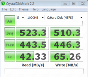 Speed Test on HDD