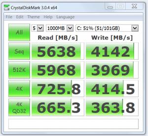 Samsung Evo 850 SSD Speed Test Result