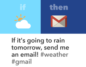 IFTTT Recipe to Email IF Its Going to Rain